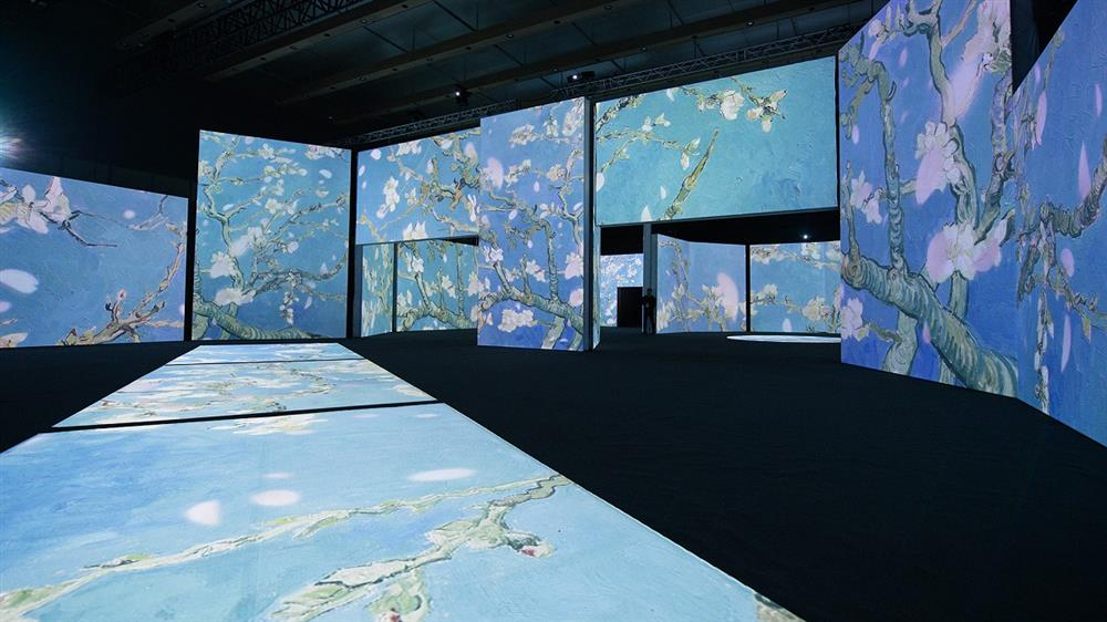 《再見梵谷-光影體驗展》動態展區_梵谷畫風亦深受浮世繪影響
