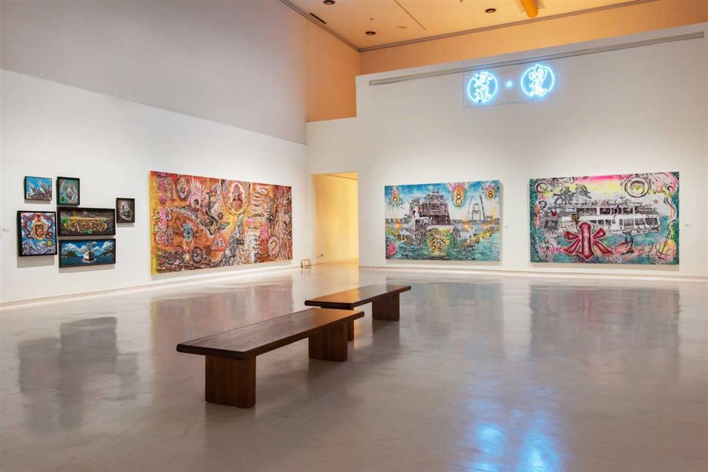 《TAKAO.台客.南方HUE:李俊賢》紀念展展覽現場,「海洋.南島」展區。