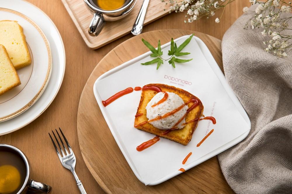 【創意吃法示意圖1】洋芋沙拉磅蛋糕