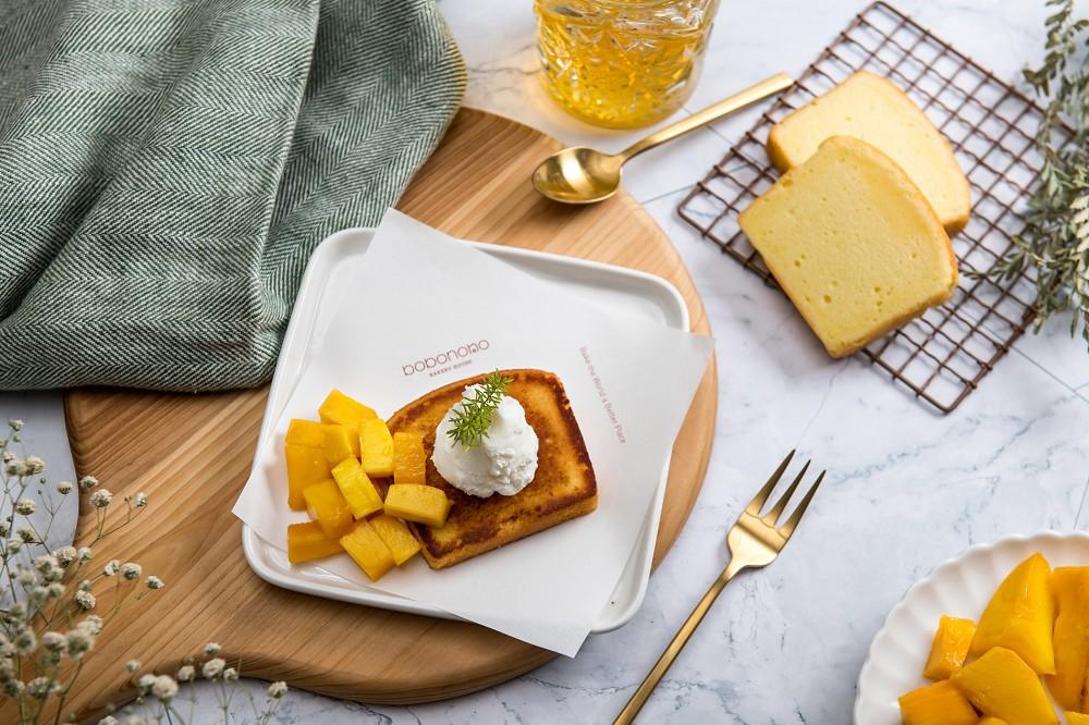 【創意吃法示意圖2】鮮芒果丁磅蛋糕
