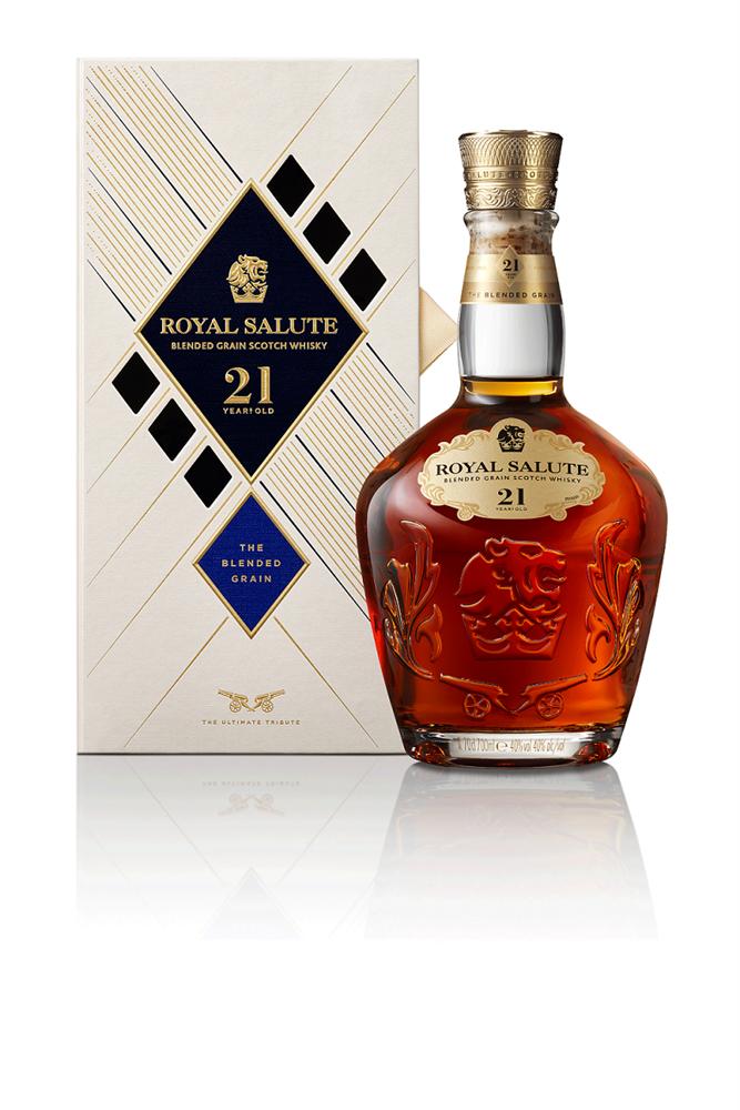 【單品圖】皇家禮炮全新21年蘇格蘭威士忌-王者之鑽_正面含盒