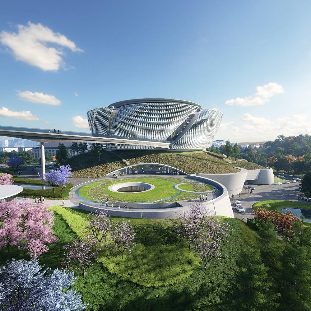 中國國際名酒文化博物館園景及立面