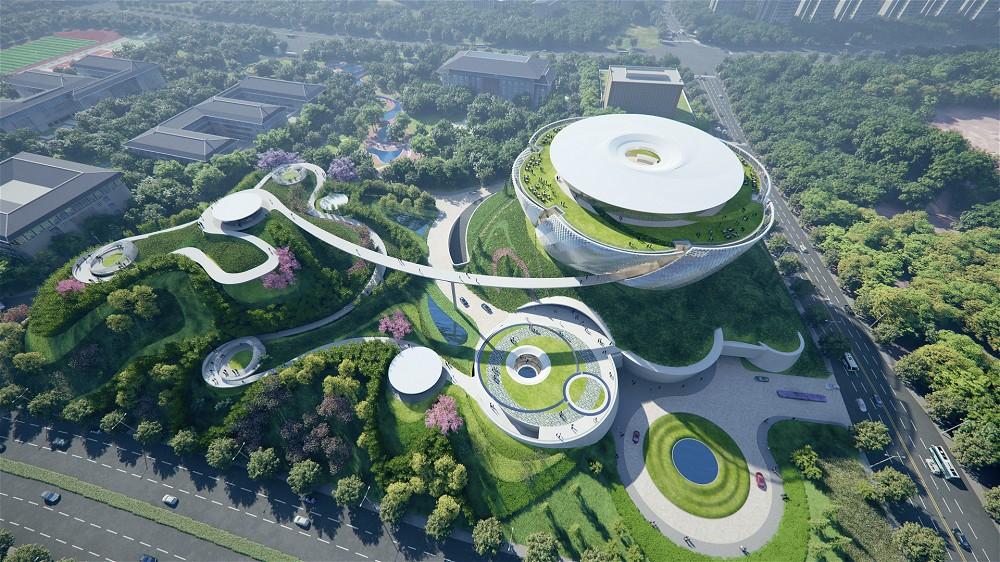 中國國際名酒文化博物館日景鳥瞰圖