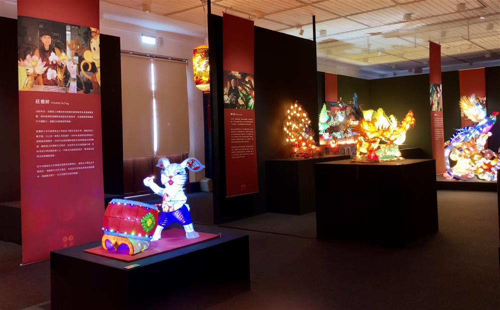 二樓展區展出9位燈藝師作品及其介紹_1