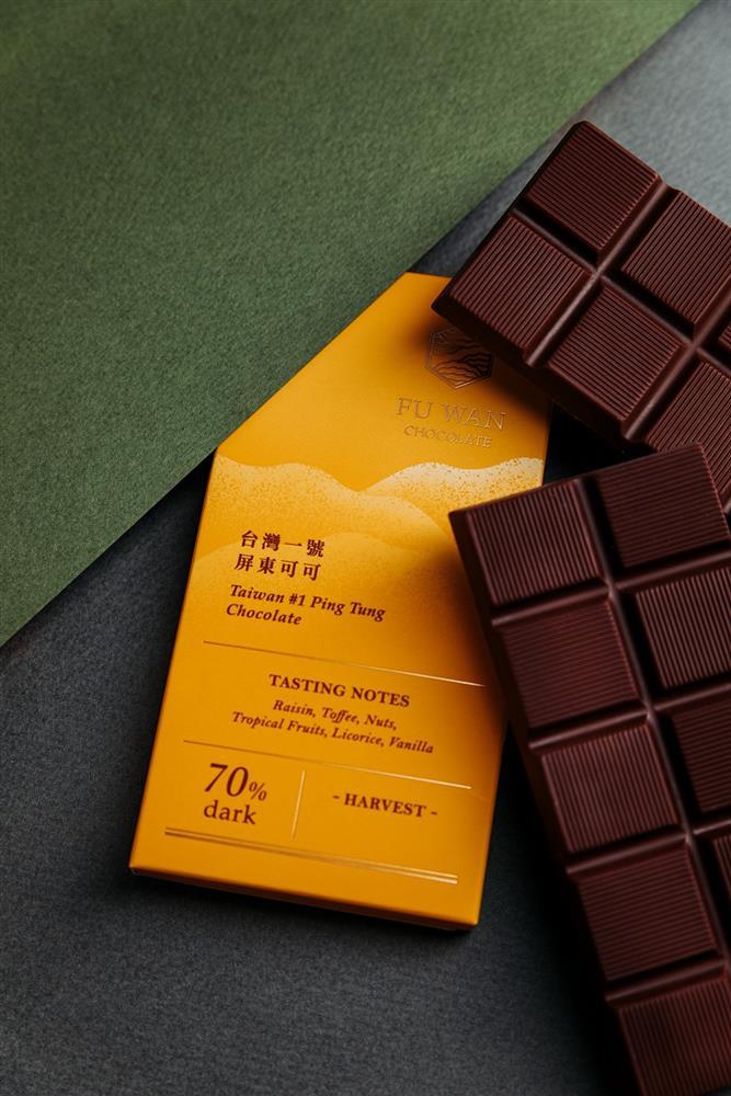 亞太區黑巧克力金牌-福灣_台灣一號屏東黑巧克力70_