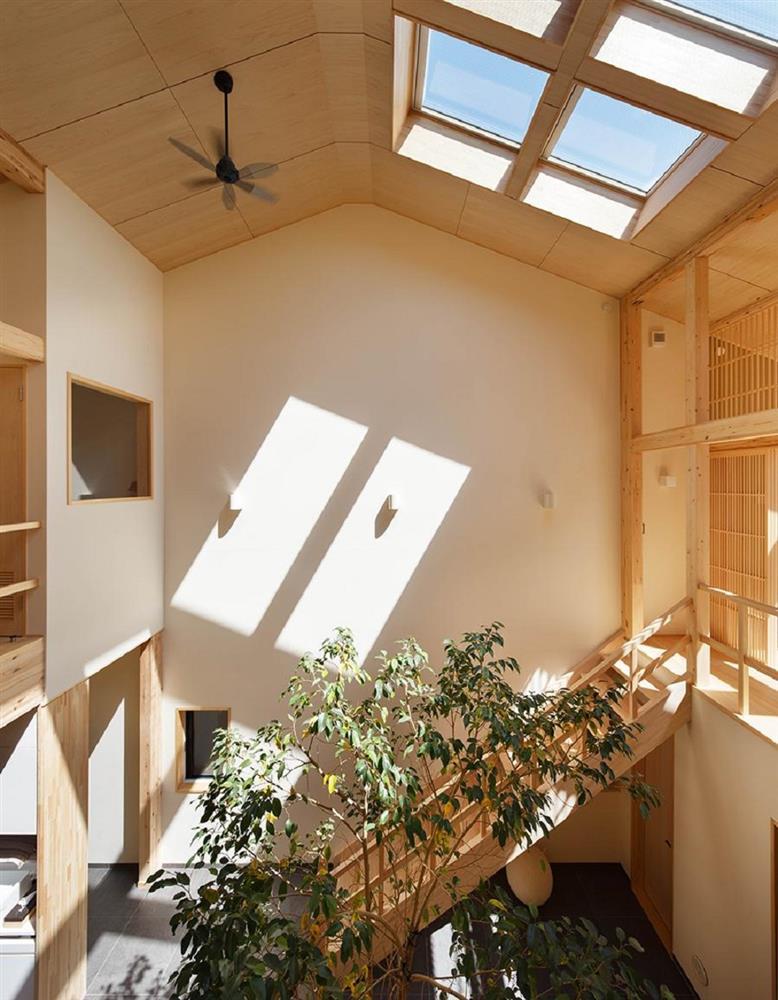 將庭院綠樹搬進家中!京都木質設計住宅 融合日式傳統與現代建築美學_06