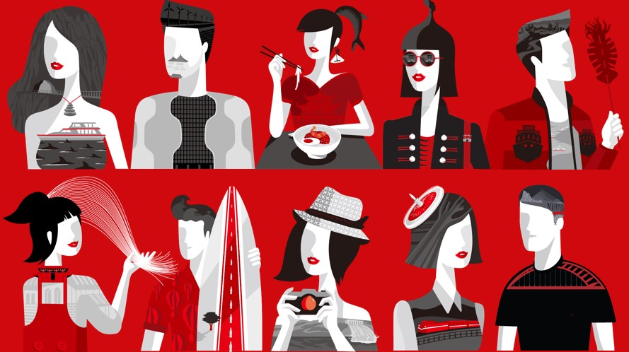 可口可樂台灣城市瓶亮點!以色列設計師Noma Bar畫出嘉義阿里山、台南美食等10城市風情