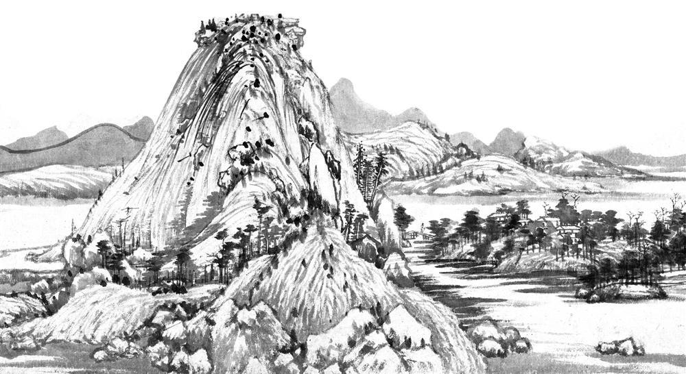 台灣設計師創作翻玩故宮國寶《富春山居圖》成絕美墨仙草5