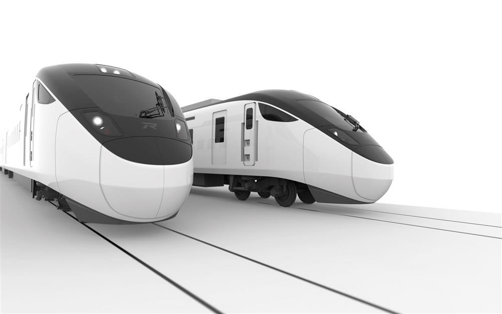 台鐵新城際列車由日本日立製作所操刀,整體走黑白極簡風。