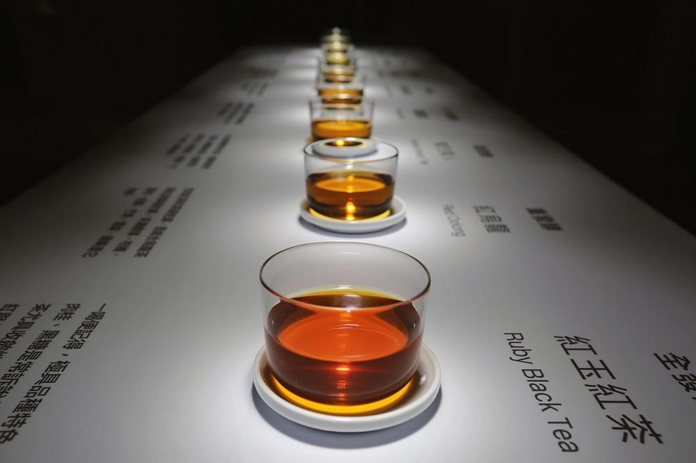 圖說:不同程度的發酵帶來不一樣的茶色(2)