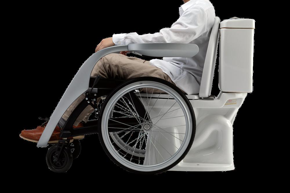 圖2、今年台灣初賽的冠軍「zerogap」,從行動不便者的需求出發,結合可向外開展的扶手與前後調整的椅墊,實現真正無障礙的如廁體驗。