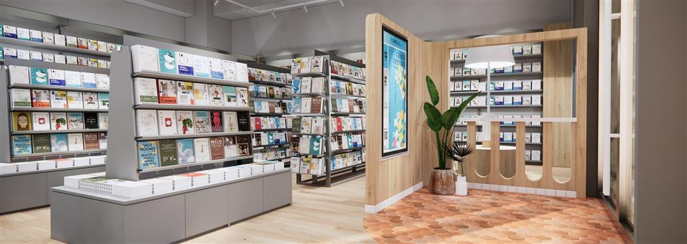 圖2.「誠品生活時光」日日有新書、週週有活動,並以「虛擬貨架」串聯誠品線上百萬件選品,提供快速到貨服務