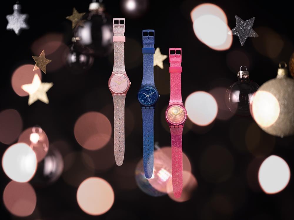 奪目而不張揚,毫不誇張地說,Gent腕錶的小巧尺寸但存在感十足。矽膠錶帶上的閃光和錶盤妝點上受煙火啟發的 Swatch Sparkles必將讓你成為耀眼的明星。_1