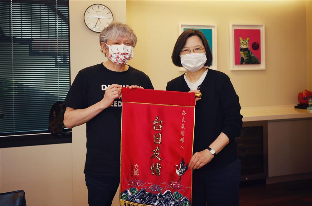蔡英文總統會面奈良美智