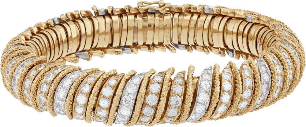 手鐲,1969年,黃K金、鉑金、玫瑰金、鑽石,Heritage典藏系列