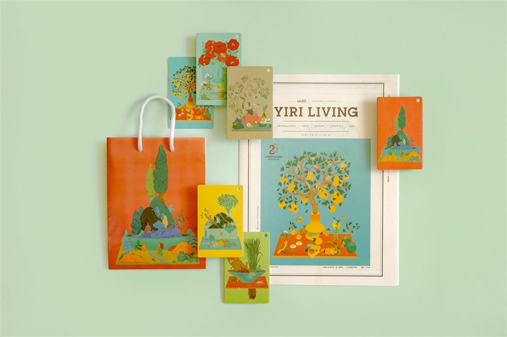把植物香氣畫進6座絕美盆景!插畫家川貝母打造「伊聖詩20週年」主視覺限量週邊