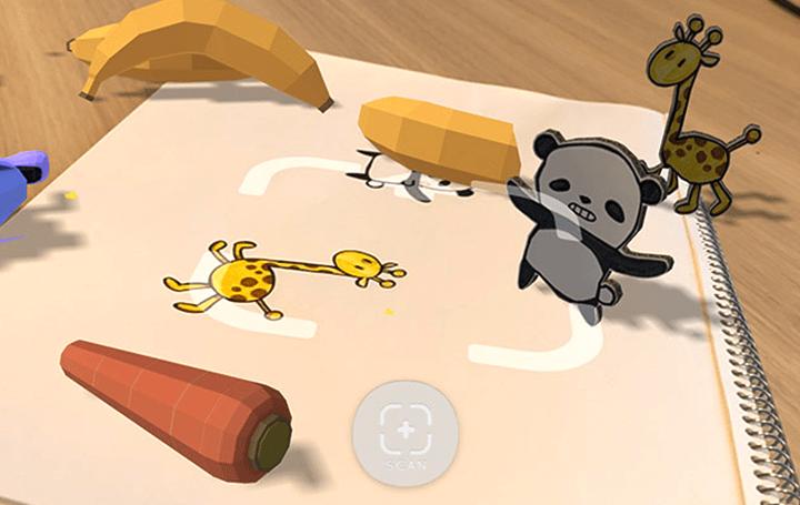 日本「RakugakiAR」讓小孩塗鴉、繪本角色變身立體互動角色3