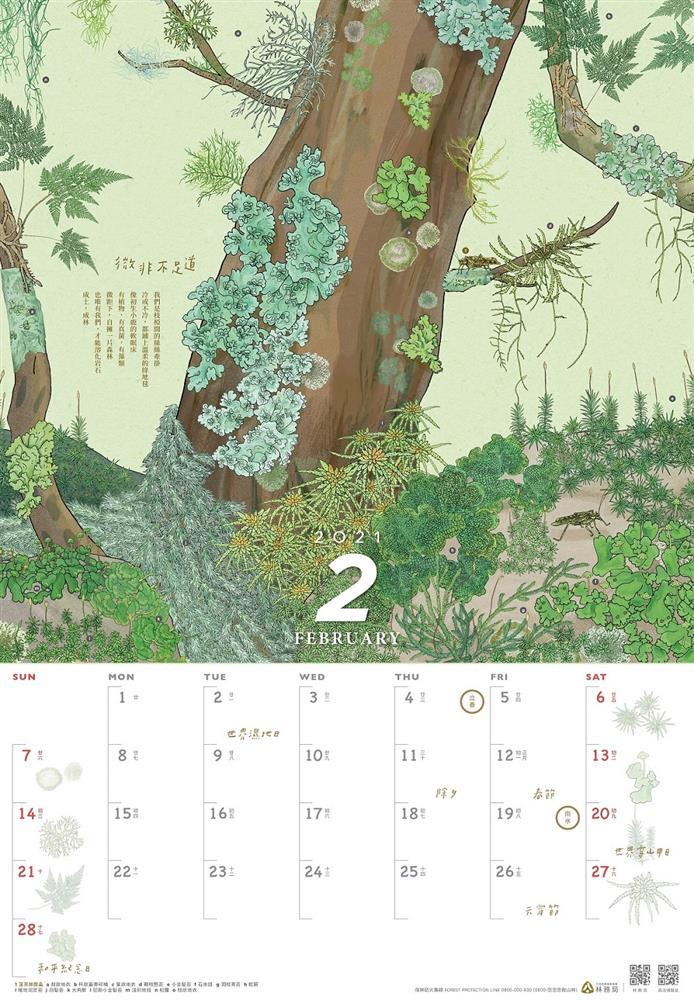 林務局2021「生命之森-種間關係」月曆_2月