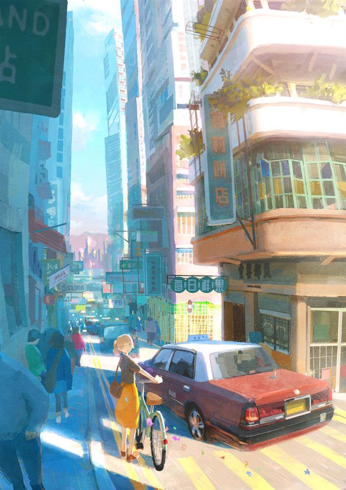 日本動畫風格的香港街景!NESCAFÉ推暖心療癒動畫廣告_03