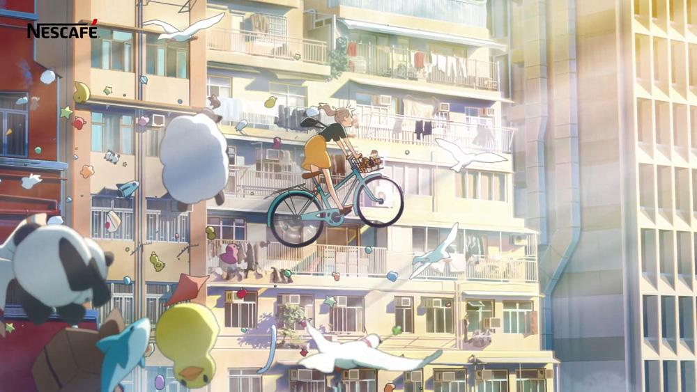 日本動畫風格的香港街景!NESCAFÉ推暖心療癒動畫廣告_01
