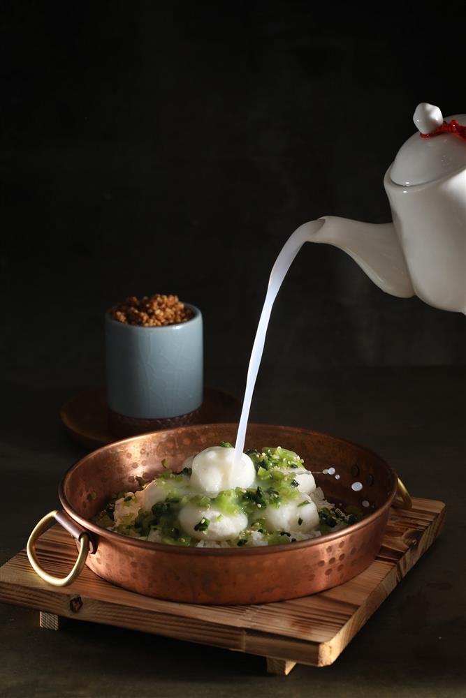筷炒 經典菜色-棉花干貝泡飯