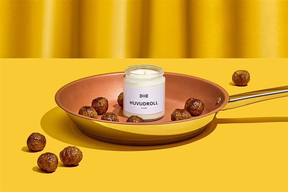 IKEA推出HUVUDROLL肉丸蠟燭