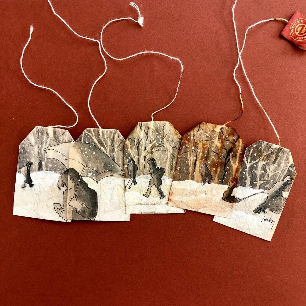 茶包袋藝術作品