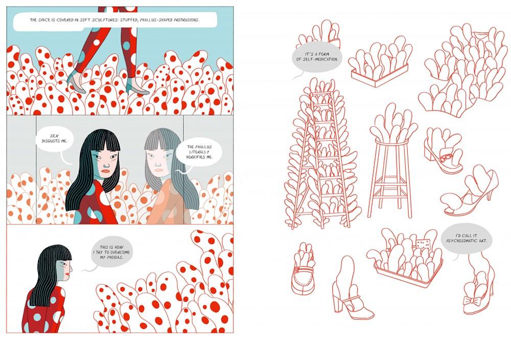 草間彌生傳記漫畫出版!義大利籍泰裔插畫家以紅白圓點訴說圓點女王的生命歷程2