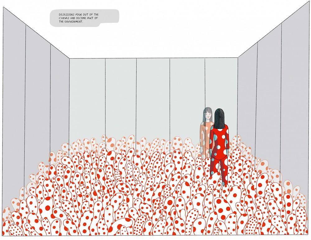 草間彌生傳記漫畫出版!義大利籍泰裔插畫家以紅白圓點訴說圓點女王的生命歷程6
