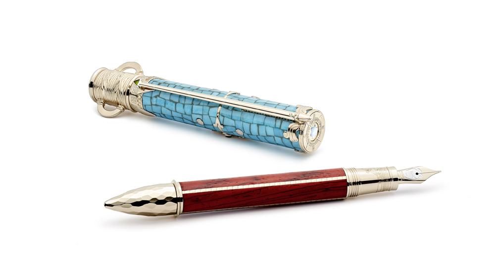 萬寶龍藝術贊助系列向蒙特蘇馬一世致敬限量款87,建議售價約歐元38,000