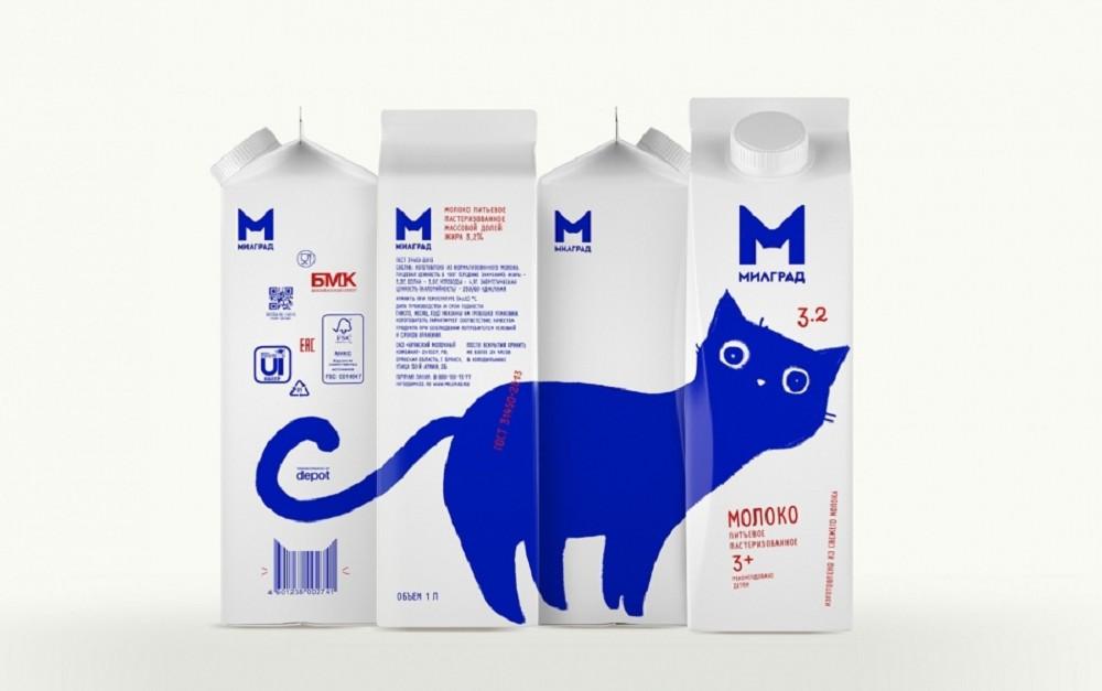 MILGRAD牛奶包裝