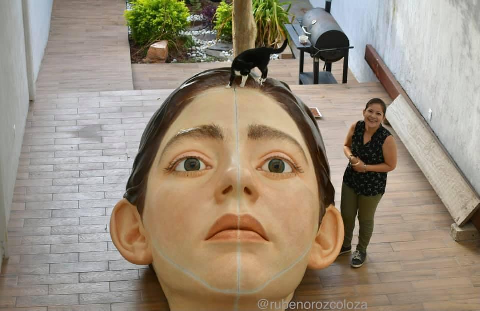 西班牙女孩臉孔雕塑Bihar2