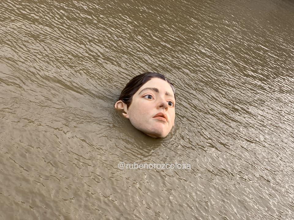 西班牙女孩臉孔雕塑Bihar5