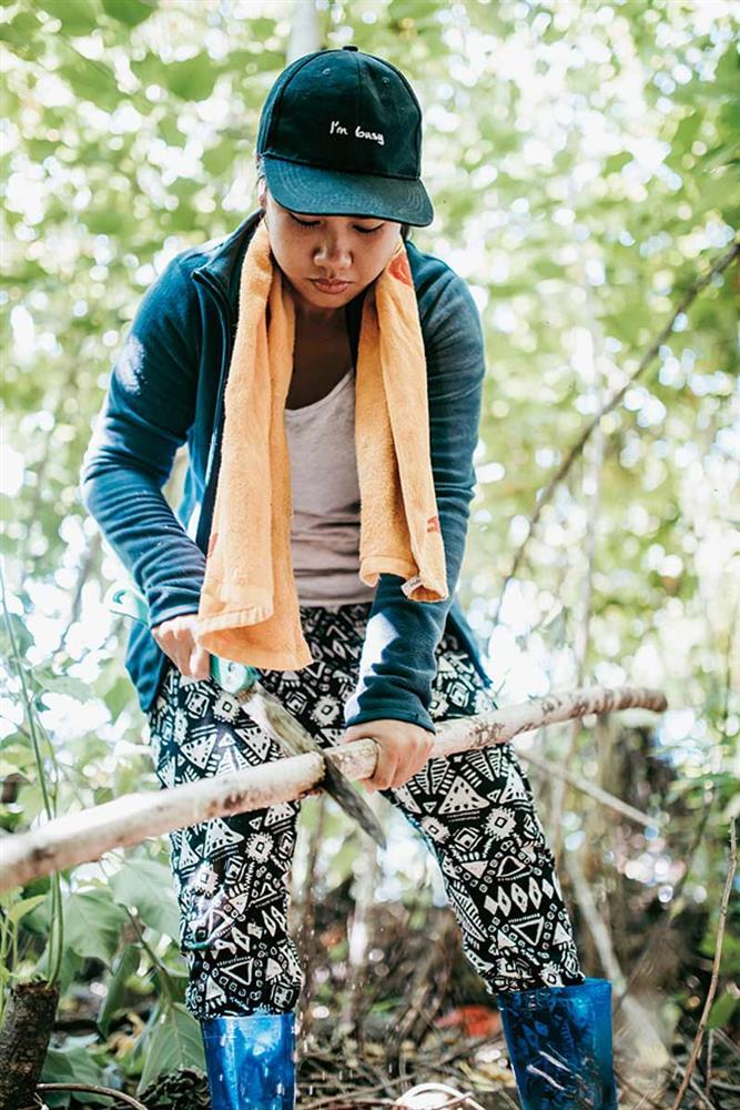 阿美族樹皮衣工藝2