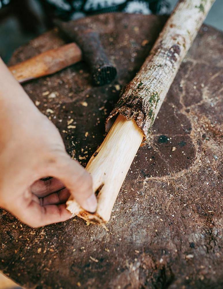阿美族樹皮衣工藝4