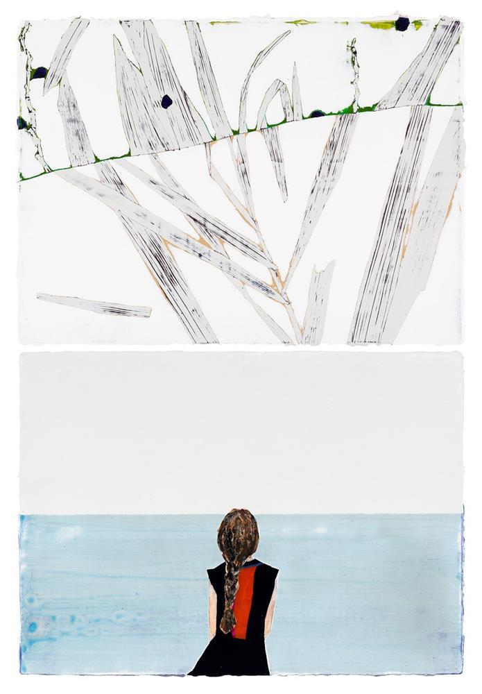 陳雲,〈思。念念如暗湧之潮隱於粼粼之海〉,2020,壓克力畫布