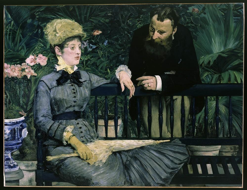 館藏|馬內《在溫室裡》1878-1879年