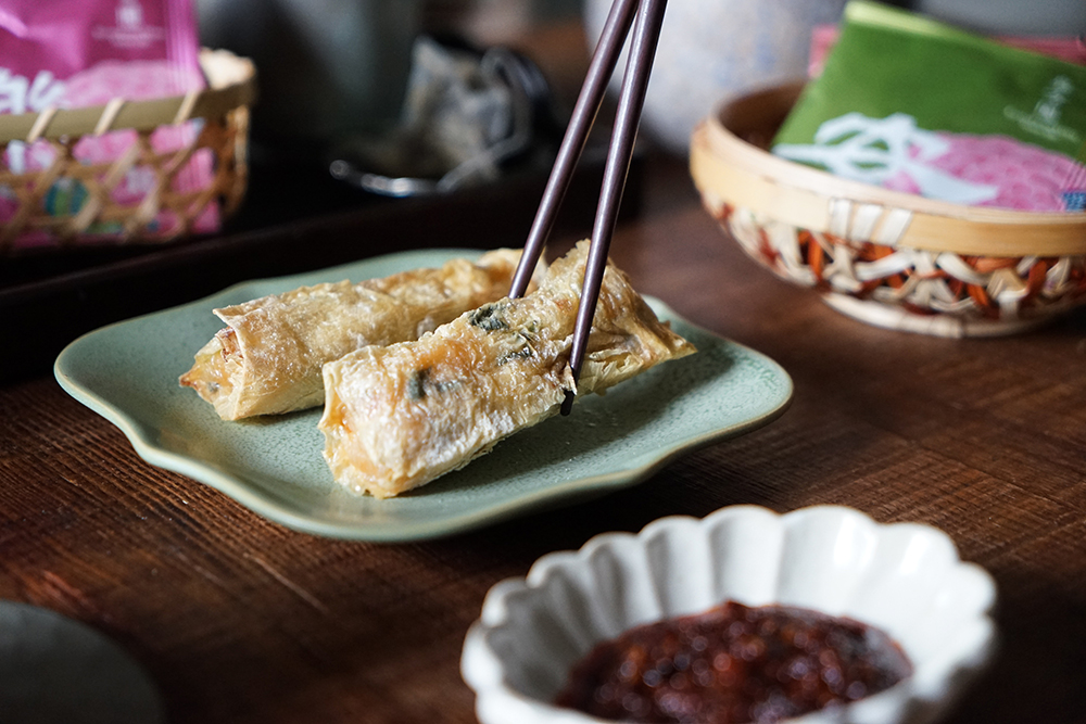 鮮蝦腐皮捲