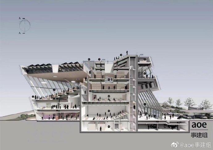 韓國松島新公共圖書館設計競賽「傾斜概念」超吸睛!冬暖夏涼的設計巧思6