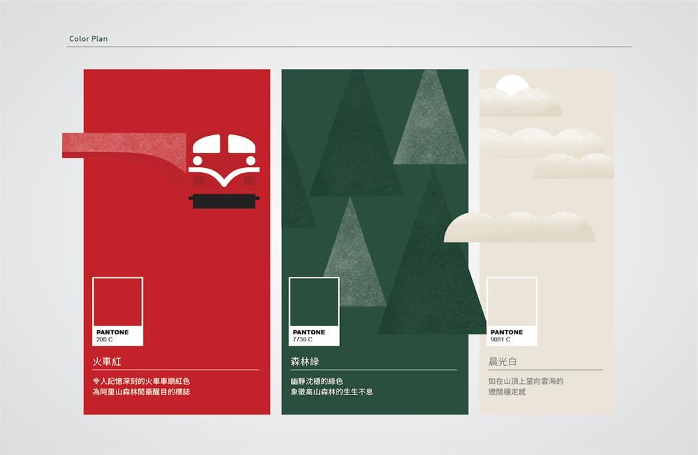 「阿里山林鐵」全新LOGO與形象識別!囍樹以火車紅、森林綠、晨光白為百年鐵道換新裝