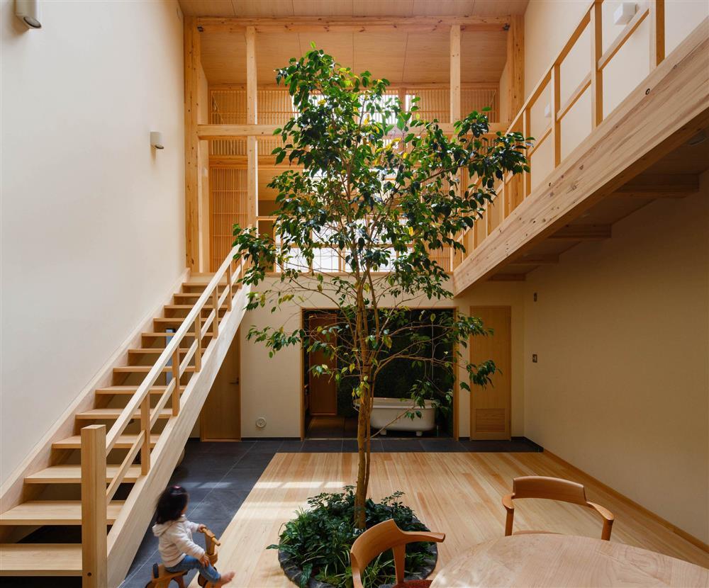 將庭院綠樹搬進家中!京都木質設計住宅 融合日式傳統與現代建築美學_01