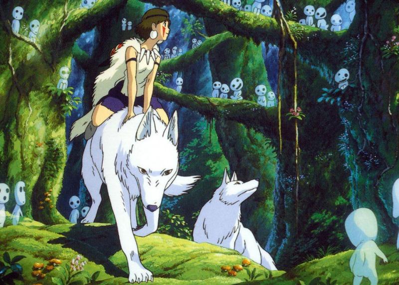 08.宮崎駿動畫電影《魔法公主》中的森林