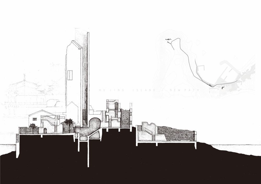 1空間設計類:「虎井嶼新地景」(倪貫倫、吳朝欽,大葉大學空間設計學系)