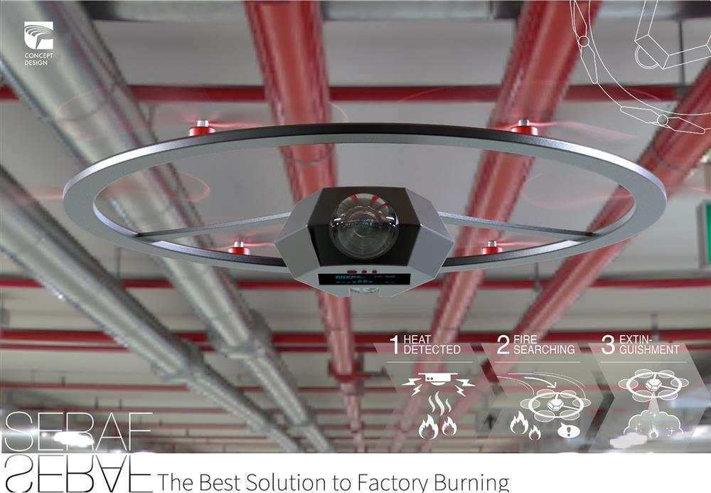 2020金點概念設計獎標章作品:「SERAF-智慧型無人機滅火系統」(陳武記、陳恩浩,台灣)