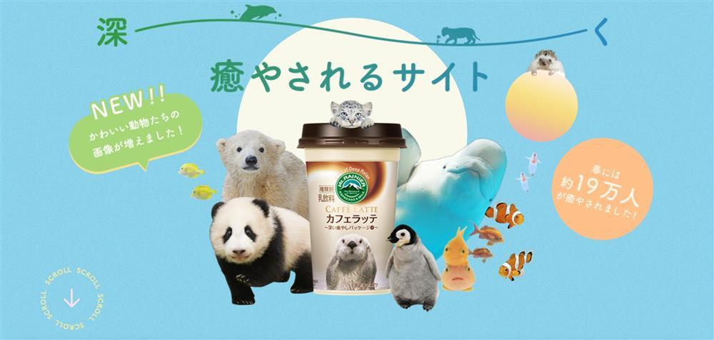 日本Mt.RAINIER讓動物園與水族館的可愛動物躍上咖啡杯身2_103