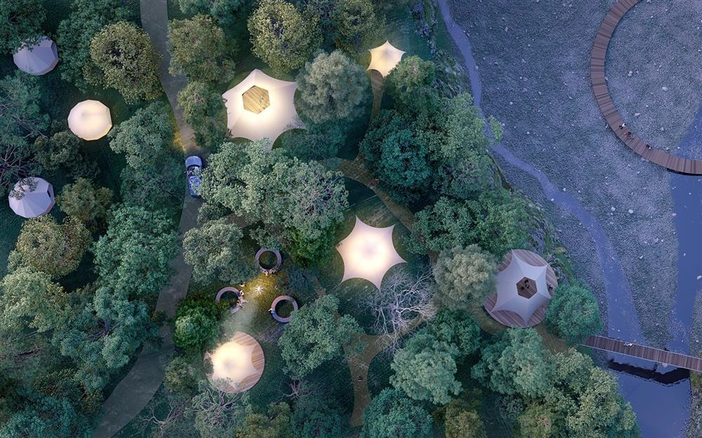 NORDISK在日本三重縣打造戶外露營區「Hygge Circles Ugakei by Nordisk」02