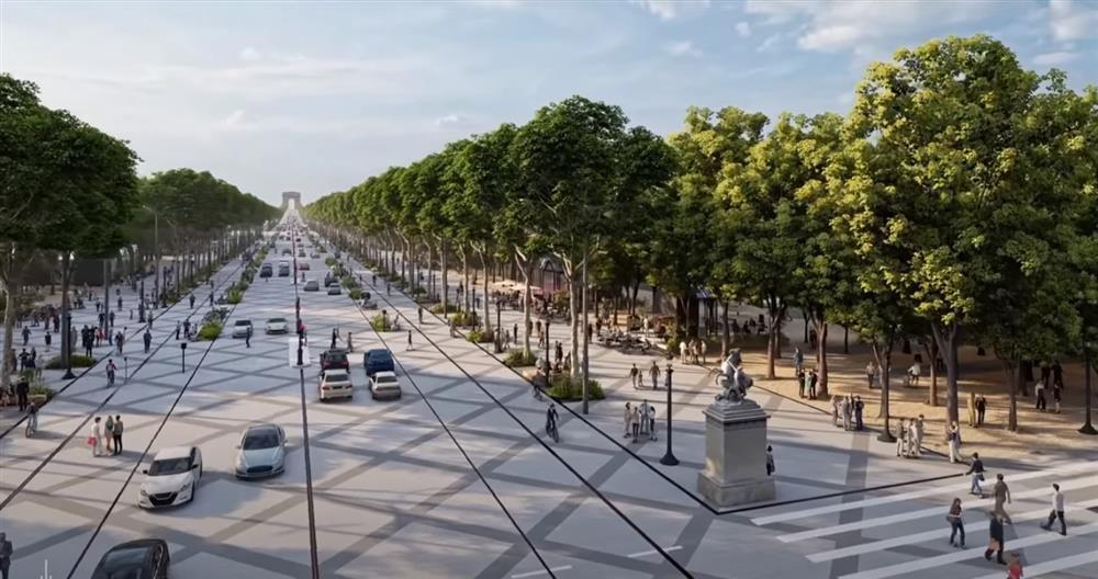 改造巴黎香榭麗舍大道