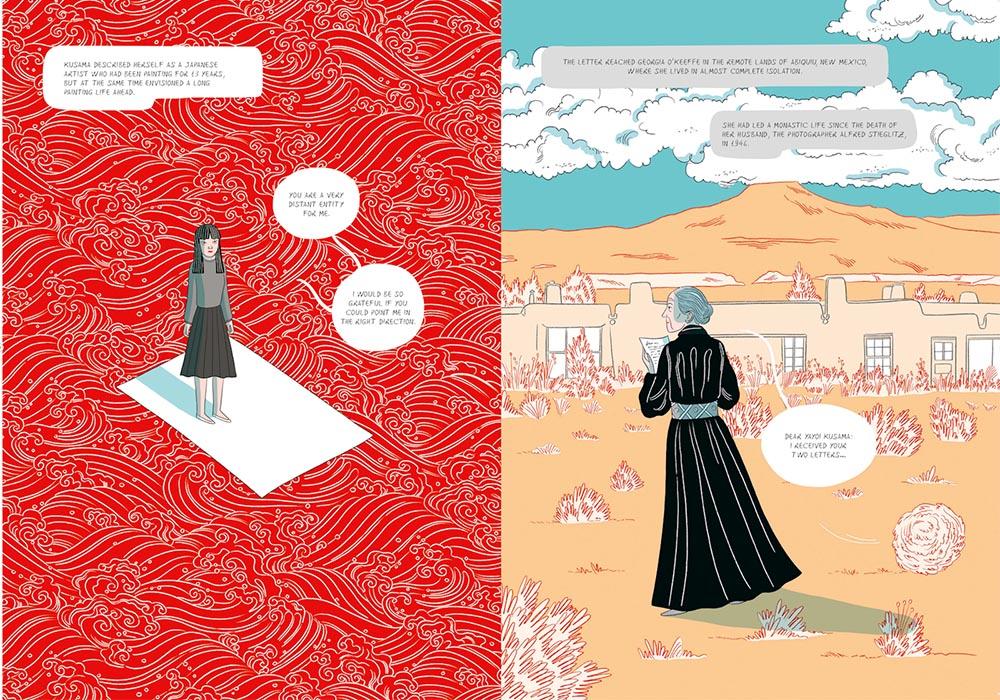 草間彌生首本傳記漫畫!義大利插畫家Elisa Macellari以紅白圓點繪出圓點女王生命歷程1