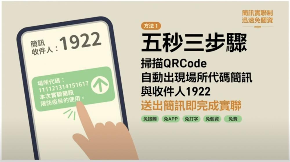 唐鳳推簡訊實聯制02