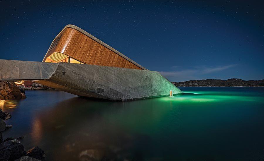 挪威建築團隊Snøhetta操刀「UNDER」歐洲第一間海底餐廳